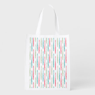 Multi Colored Flutes Grocery Bag