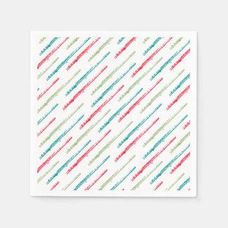 Multi Colored Flutes Paper Napkin