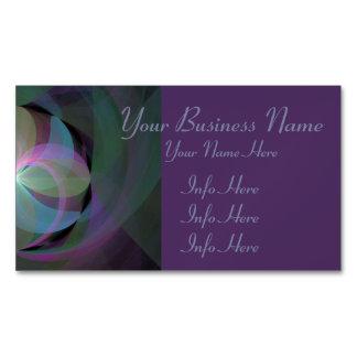 Multi Colored Fractal Fan Business Card Magnet