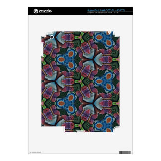 Multi colored Fractal Kaleidescope Pattern Decals For iPad 3