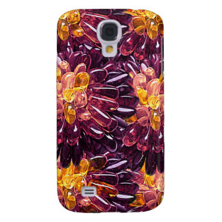Multi Colored Gem Jewel Flower Abstract Galaxy S4 Case
