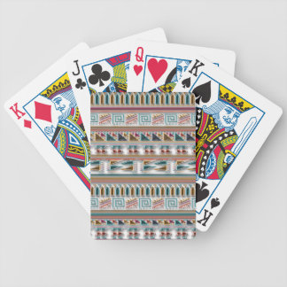 Multi Colored Gems Geometric Aztec Tribal Pattern Bicycle Playing Cards