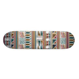 Multi Colored Gems Geometric Aztec Tribal Pattern Skateboard Deck