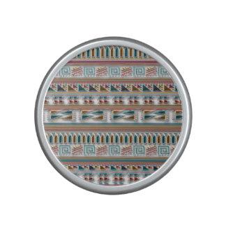 Multi Colored Gems Geometric Aztec Tribal Pattern Speaker