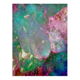 Multi Colored Gemstone Postcard