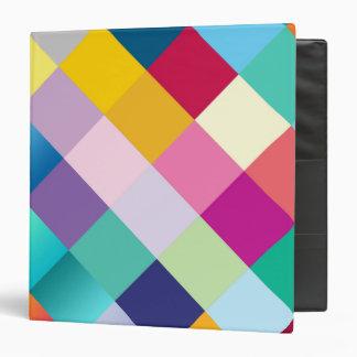 Multi Colored Geometric 3 Ring Binder