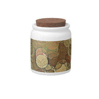 Multi Colored Geometric Abstract Art Candy Jar