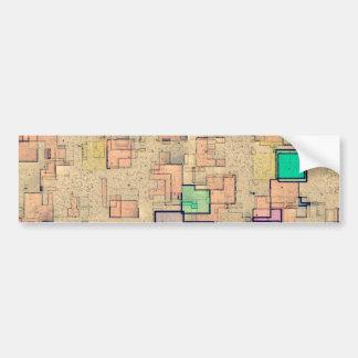 """Multi Colored Geometric Abstract Shapes Art"" Bumper Sticker"