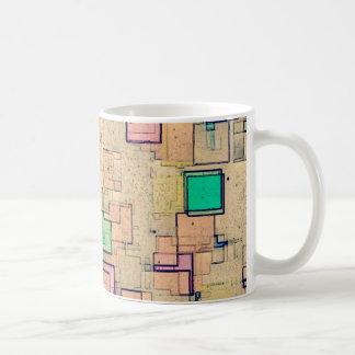 """Multi Colored Geometric Abstract Shapes Art"" Coffee Mug"