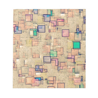 """""""Multi Colored Geometric Abstract Shapes Art"""" Memo Note Pad"""