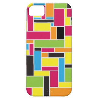 Multi colored geometric pattern iPhone 5 case