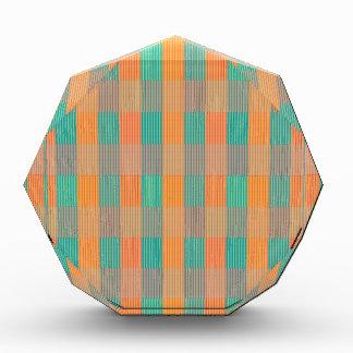 """Multi Colored Geometric Square & Stripes"" Acrylic Award"