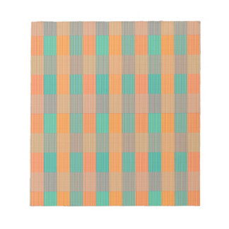 """Multi Colored Geometric Square & Stripes"" Notepads"