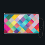 """Multi Colored Geometric Wristlet Purse<br><div class=""""desc"""">Multi Colored Geometric Wristlet Purse ✦ Clutch for carrying make-up cosmetics,  money,  &amp; small personal belongings</div>"""