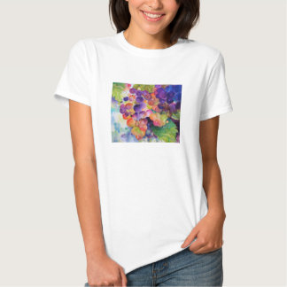 Multi-Colored Grapes in a Bunch Painting T-Shirt