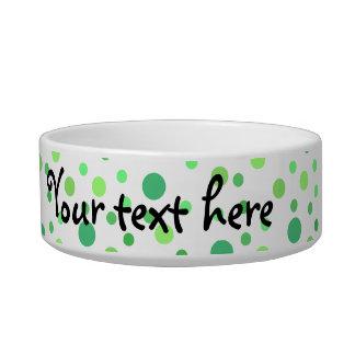 Multi colored green polka dots bowl