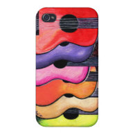 Multi-Colored Guitars Iphone Case Cases For iPhone 4
