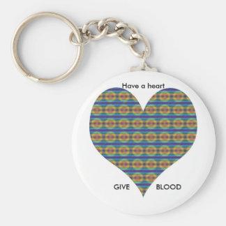 Multi-colored-Heart Keychain