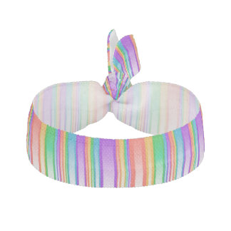Multi-Colored Highlighted Vertical Stripes Elastic Hair Tie