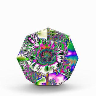 Multi colored Hollyhock Acrylic Award