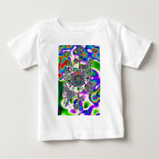 Multi colored Hollyhock Baby T-Shirt