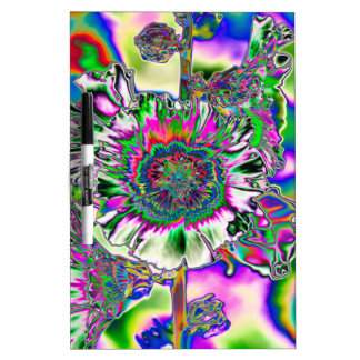 Multi colored Hollyhock Dry-Erase Whiteboards