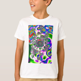 Multi colored Hollyhock T-Shirt