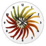 Multi-Colored Hot Peppers Clock