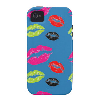 Multi Colored Kisses iPhone 4 and 4S iPhone Case iPhone 4 Cover