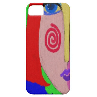 Multi-Colored Lady iPhone 5 Case