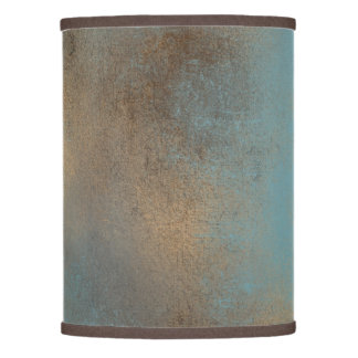 Multi Colored Lamp Shades: teal, gold and brown