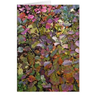 """MULTI-COLORED LEAVES/DIGITAL EFFECTS""/BLANK CARD"