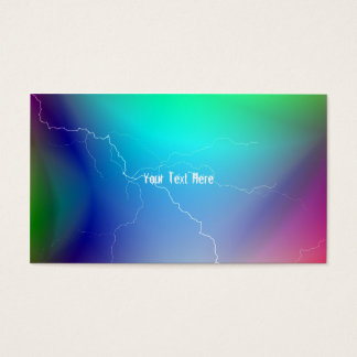 Multi-Colored Lightning Business Cards