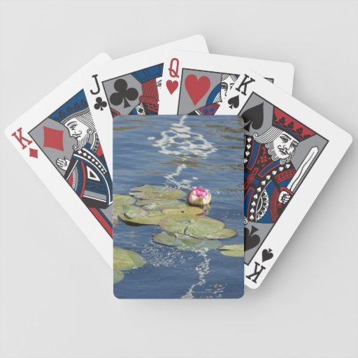 Multi Colored Lily Playing Cards