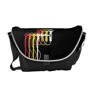 Multi colored microphones messenger bag