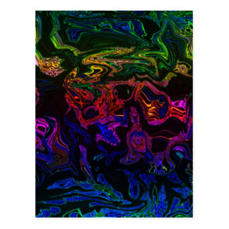 Multi-colored Moziac Cards Postcard
