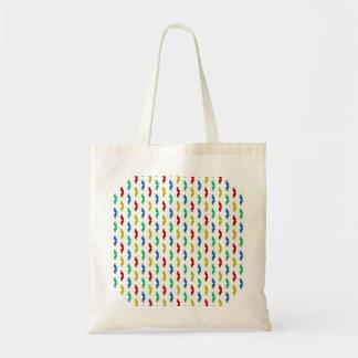 Multi Colored  Mustache Pattern Bag