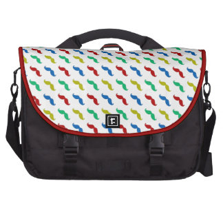 Multi Colored  Mustache Pattern Bags For Laptop
