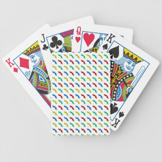 Multi Colored  Mustache Pattern Bicycle Playing Cards