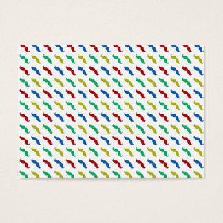 Multi Colored  Mustache Pattern Business Card
