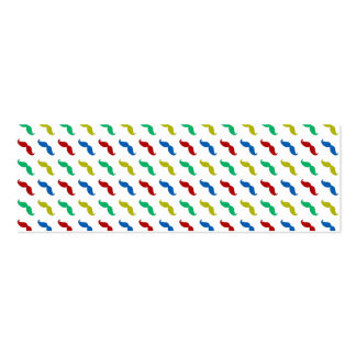 Multi Colored  Mustache Pattern Business Card Template