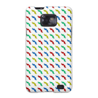 Multi Colored  Mustache Pattern Galaxy SII Covers
