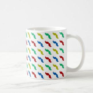 Multi Colored  Mustache Pattern Coffee Mug