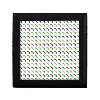 Multi Colored Mustache Pattern Trinket Boxes
