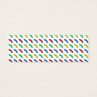 Multi Colored  Mustache Pattern Mini Business Card