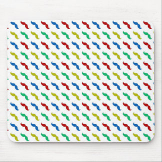 Multi Colored  Mustache Pattern Mouse Pads