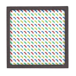 Multi Colored Mustache Pattern Premium Gift Boxes