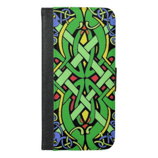 Multi Colored Ornate Irish Celtic Knot iPhone 6/6s Plus Wallet Case