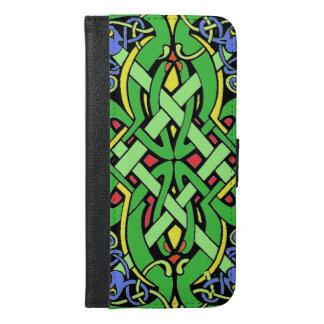 Multi Colored Ornate Irish Celtic Knot iPhone 6/6s Plus Wallet Case