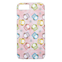 Multi Colored Owl Pattern. iPhone 8/7 Case